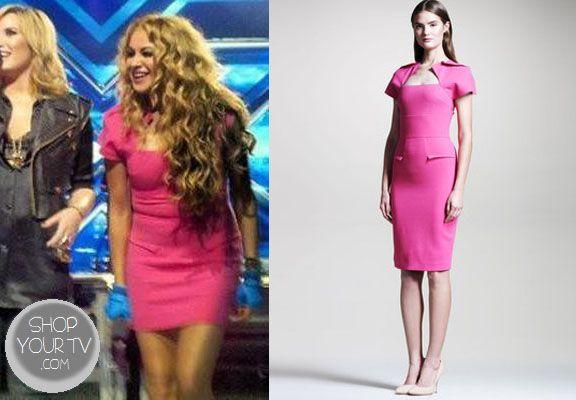 The X Factor: Season 3 Paulina Rubio's Pink Dress