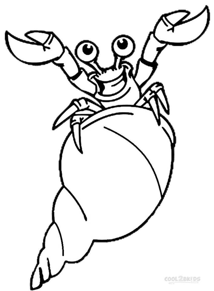Great Hermit Crab Printable | Hermit Crab Coloring Pages