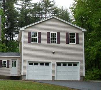Two story style garages house additions pinterest for Double garage with room above plans