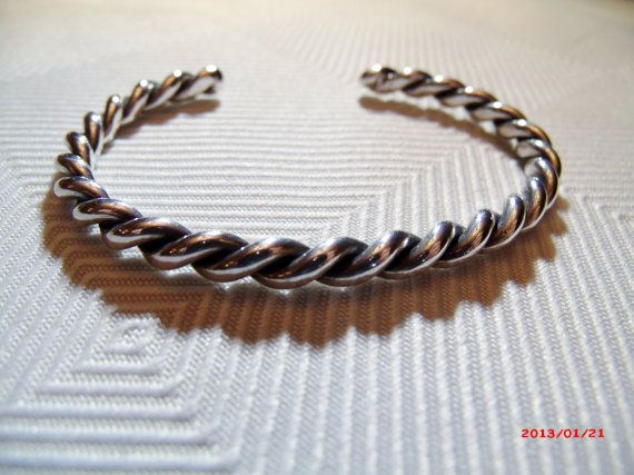 Vintage Sterling Twisted Cuff Bracelet by bumbalilliesbling, $15.00