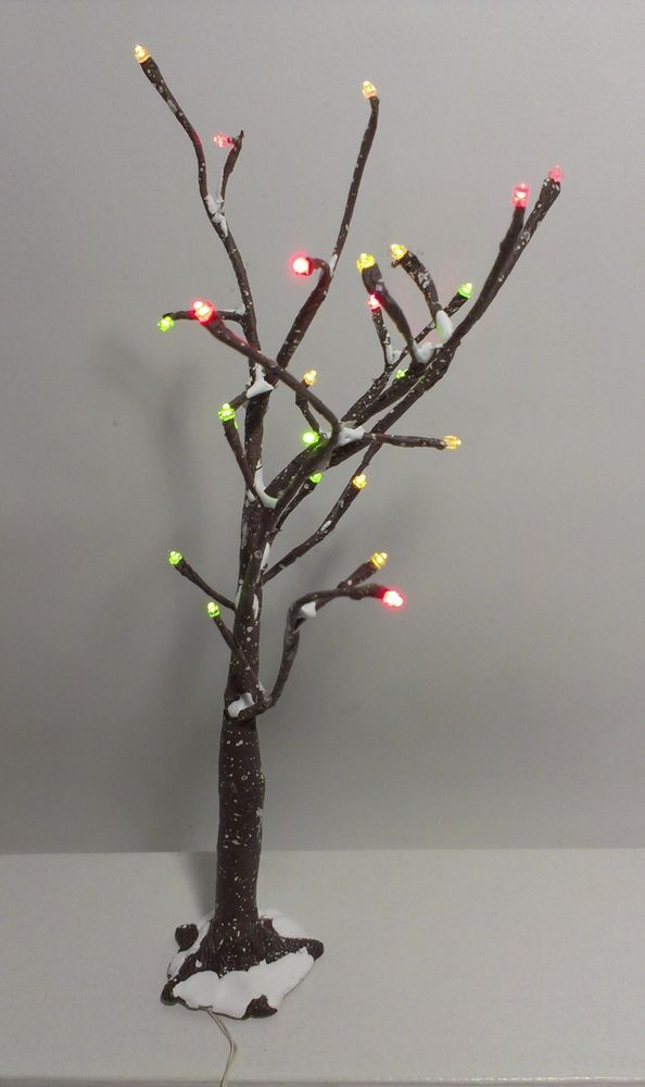 Department Dept 56 Holiday Village Snow Bare Branch Tree Led Lights Holiday Village Led Lights Tree Branches