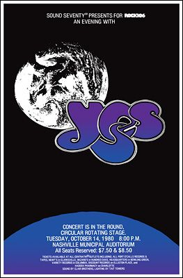 Yes Concert Poster Https Www Facebook Com Fromthewaybackmachine