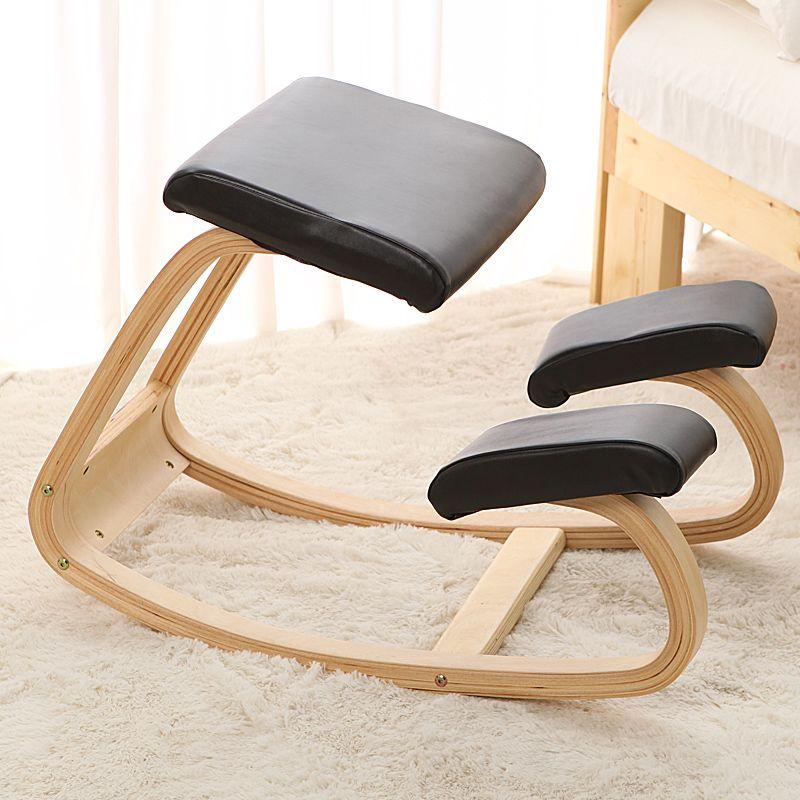 Original Ergonomic Kneeling Chair Stool Leather Seat Home ...