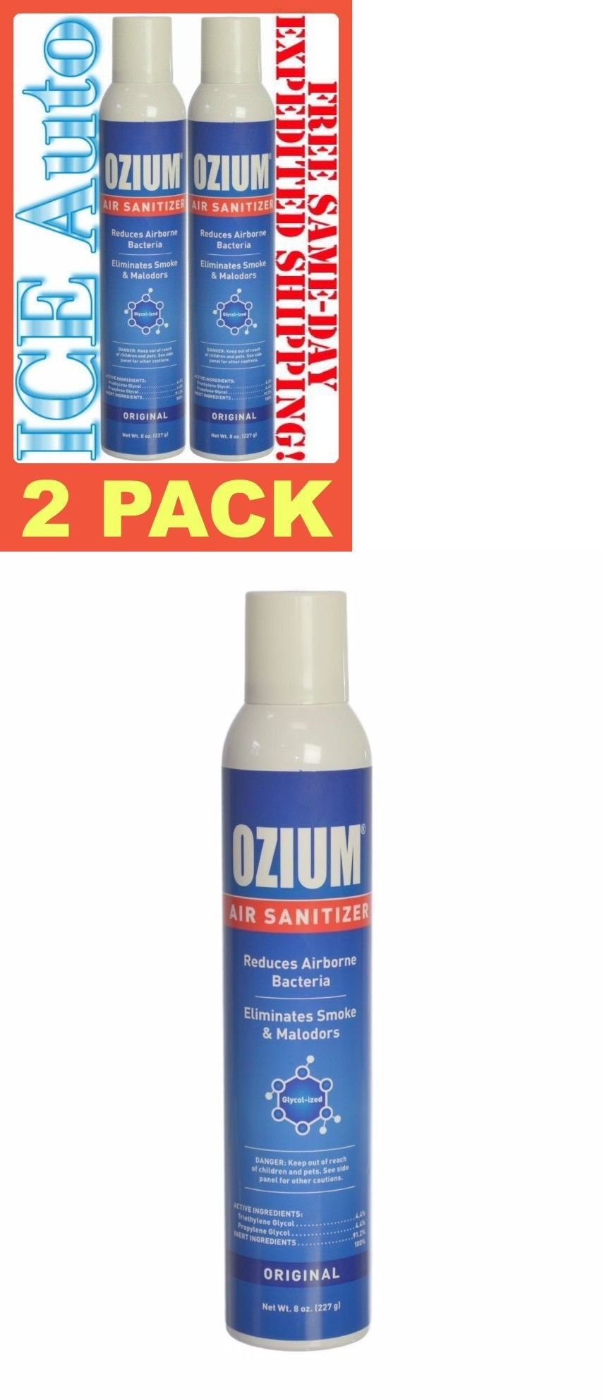Air Fresheners 166724 2 Pack Ozium Original Freshener Sanitizer Smoke And Odor Eliminator 8 Oz Cans It Now Only 19 95 On Ebay