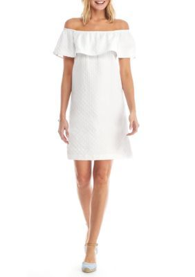 1ac01861a2d50 Crown   Ivy™ Women s Petite Over The Shoulder Woven Dress - White - Pxl