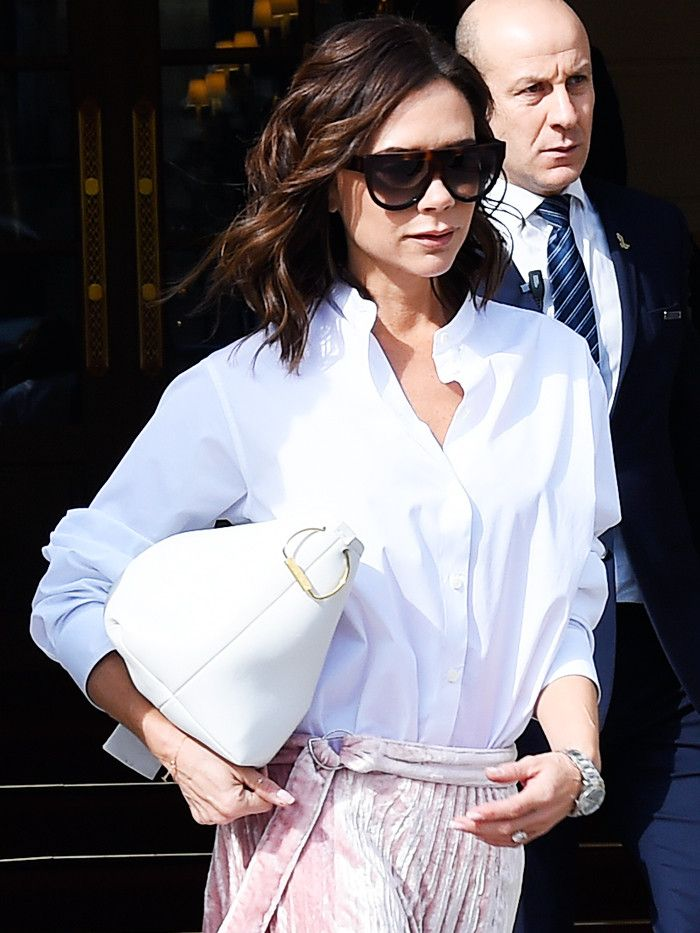 How Victoria Beckham Recycles a Fail-Safe Outfit Combo via @WhoWhatWear