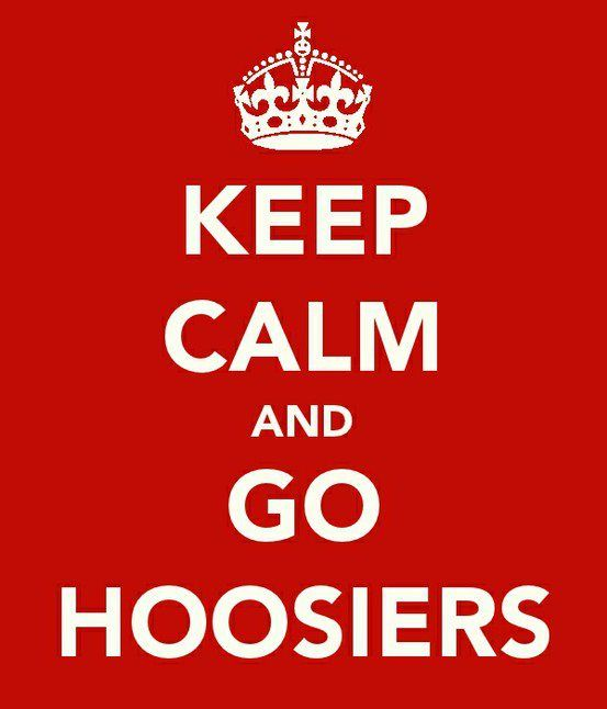 Hoosier Nation. ps i really need this in real life to be in my living room in my apartment.