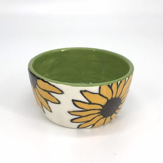 NEW! sunflower little bowl, teacher gifts, snack dish, hello autumn, dip bowls, mothers day, flower #helloautumn