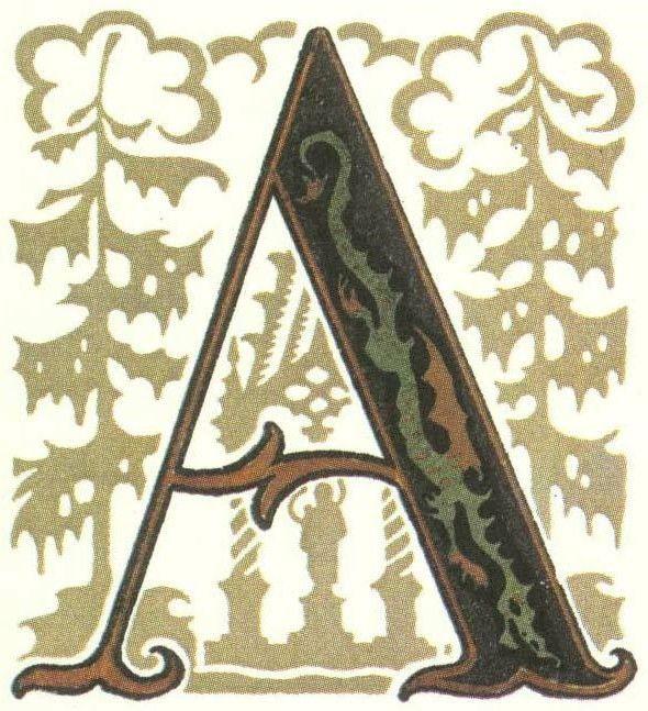 グリム童話:ふたり兄弟 装飾文字 Grimm's Fairy Tales:Two Brothers / Letters