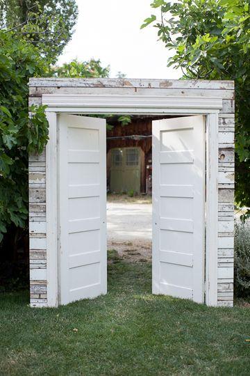 Photo of beautiful doors for an outdoor chapel #wedding