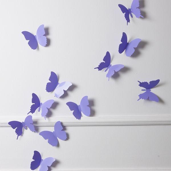 Beautiful Schmetterlinge Lila D Wanddeko