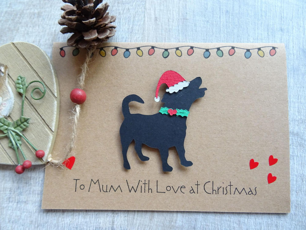 Jack Russell Terrier Christmas Card, From the dog
