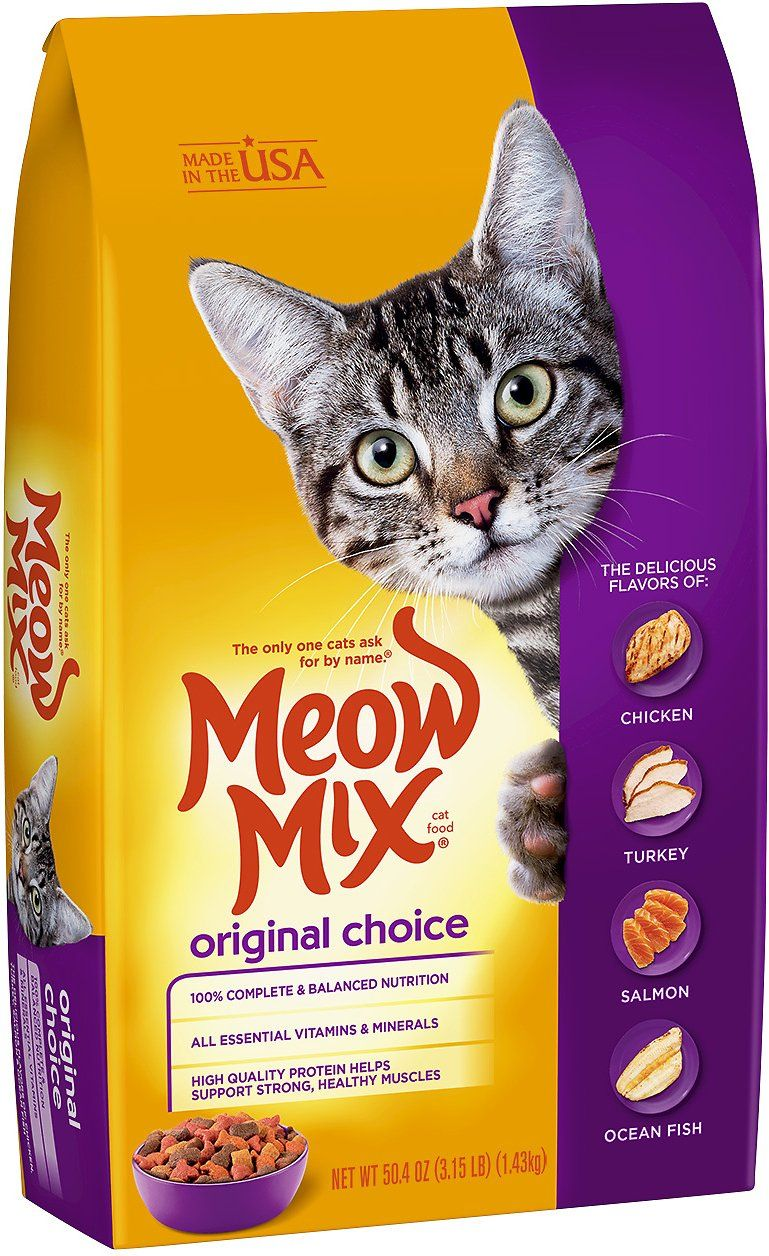 Meow Mix Original Choice Dry Cat Food, 3.15lb bag Chewy