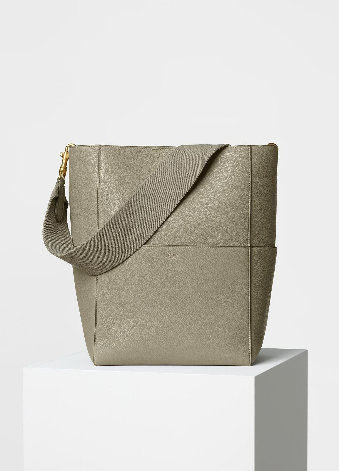 Sangle Shoulder Bag in Soft Grained Calfskin - Céline