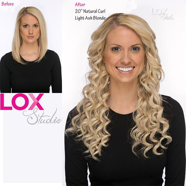 20 Natural Curl Light Ash Blonde Extensions Clipinextensions