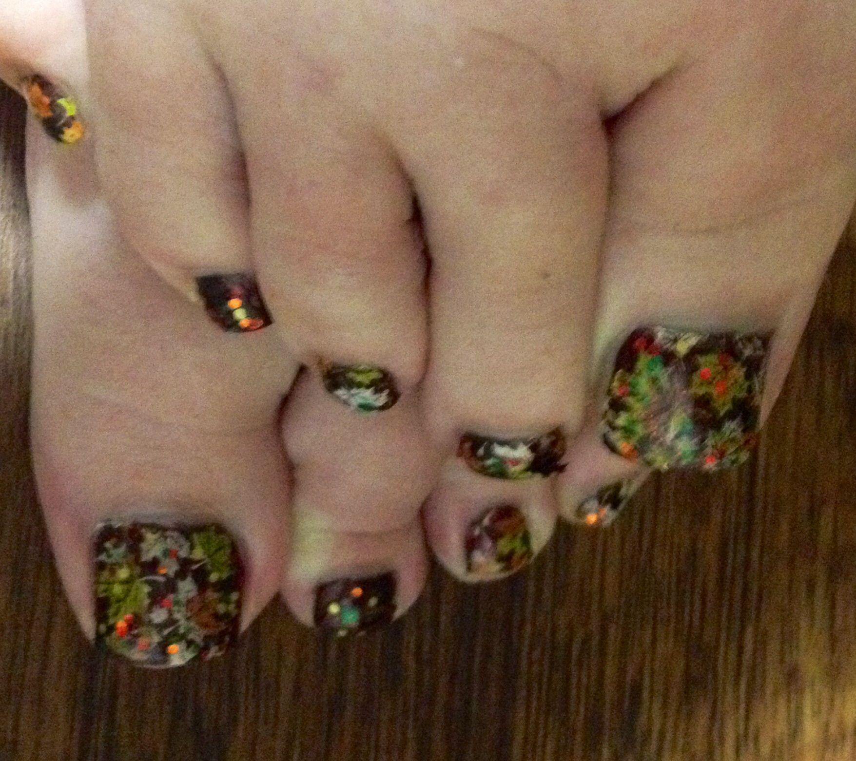 Fall toe nail art | Toetally Awesome | Pinterest | Fall toe nails ...