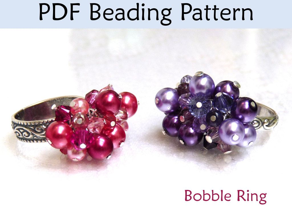 Beading Instructions Beaded Ring Jewelry Making Tutorial Bobble