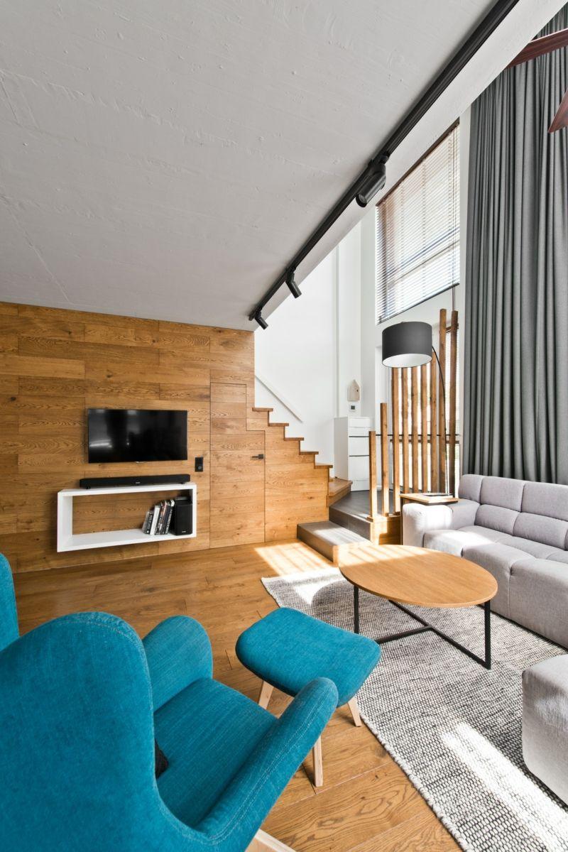 Skandinavischer Stil In Grau Fur Moderne Loft Einrichtung