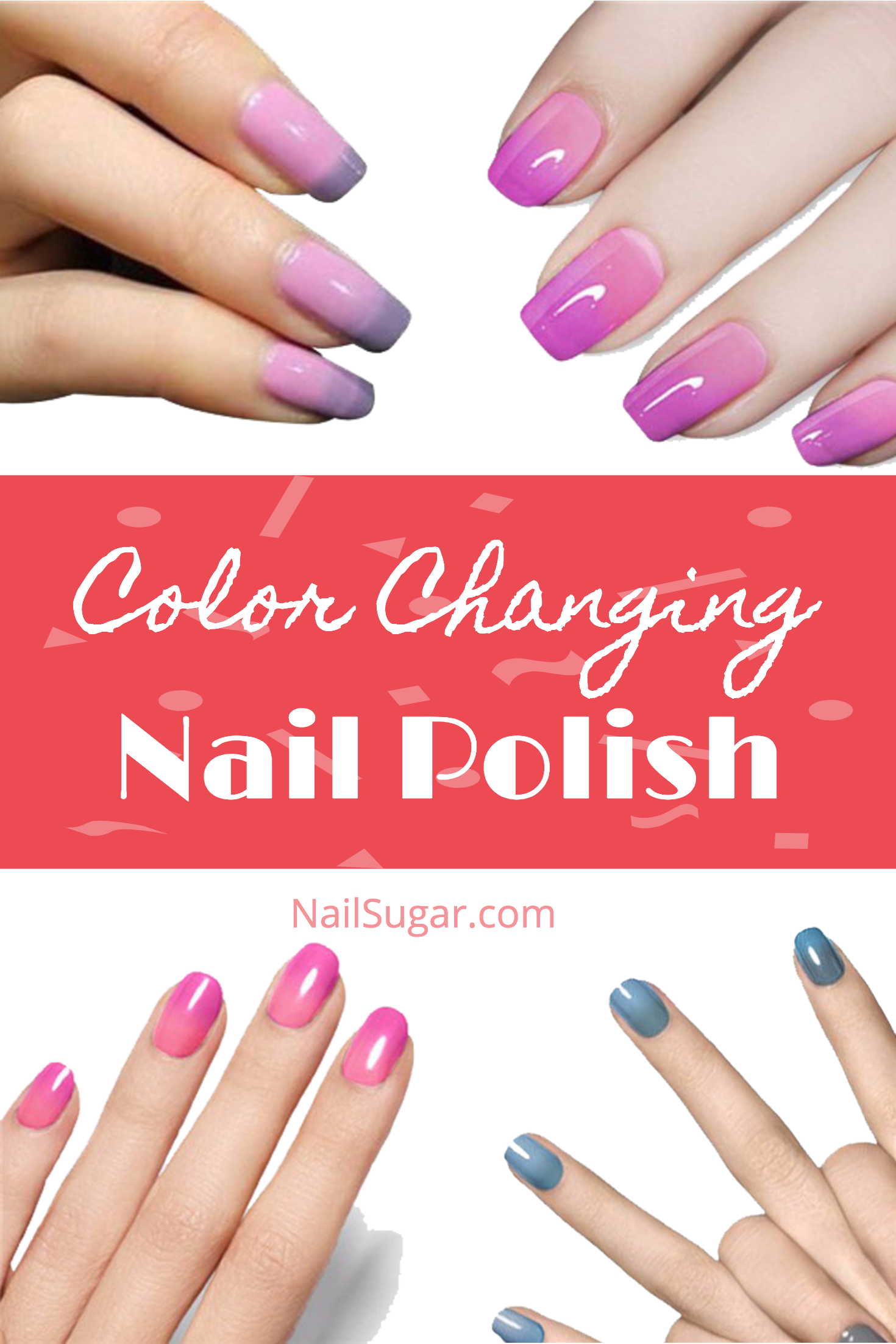 These Are Color Changing Nail Polishes Are So Pretty Easy Too Achieve That Ombre Look Without Trying Just Apply And Let With Images Nail Polish Color Change Nail Polish