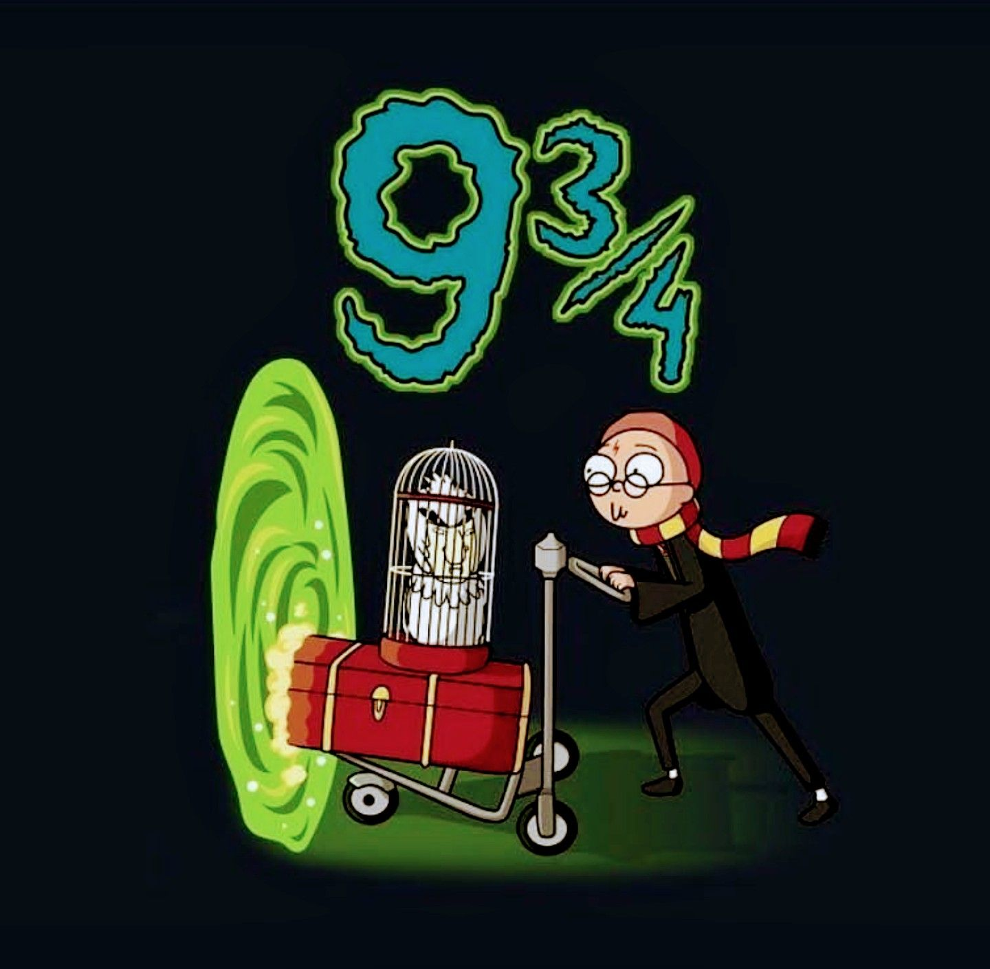 Image result for rick and morty harry potter