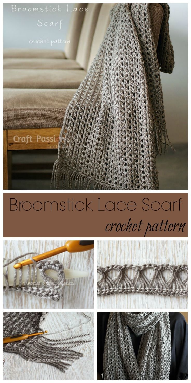Broomstick Lace Scarf Blogger Crochet Patterns And Tutorials We