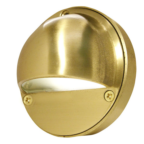 4 Cast Brass Eyebrow Step Deck Light 12v 120v Pdbs425 Deck Lighting Step Lighting Brass Wall Light