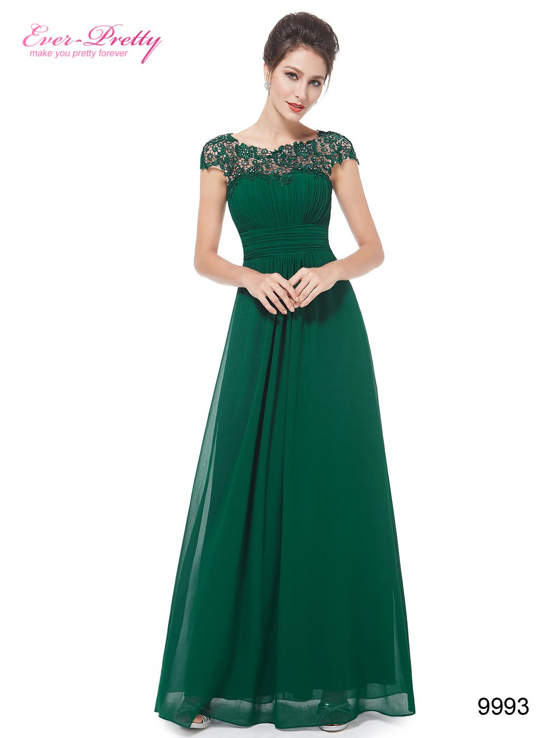 Lace cap sleeve evening gown neckline fancy and prom