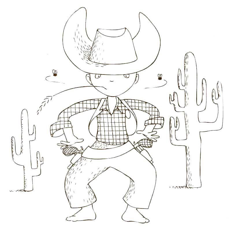 Cahier de coloriage Cap Canaille Matteo le Cowboy - 80 pages ...