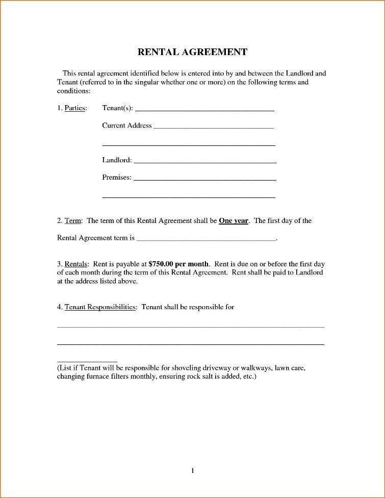 Simple Rental Agreement Form In 2020 Rental Agreement Templates