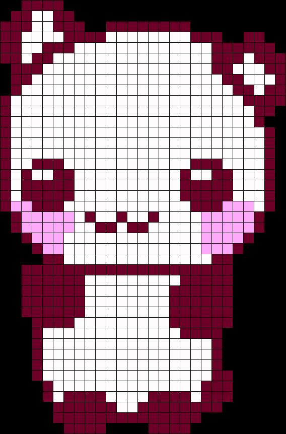 Kawaii Panda Perler Bead Pattern Bead Sprite Minecraft Pixel