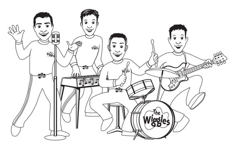 The Wiggles Playing Music Coloring Pages In 2020 The Wiggles Music Coloring Coloring Pages
