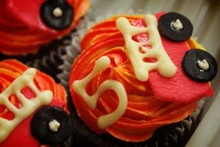 Fire truck cupcakes are never a bad thing! @kidsfiredept