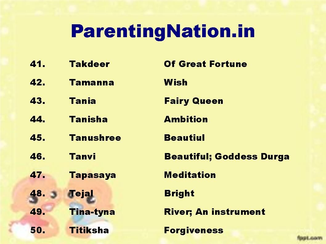 You Can Use This Tula Rashi Baby Girl Names Slide To Name Your