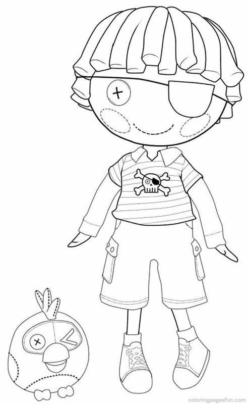 lalaloopsy coloring pages 3 - Lalaloopsy Coloring Pages Mittens