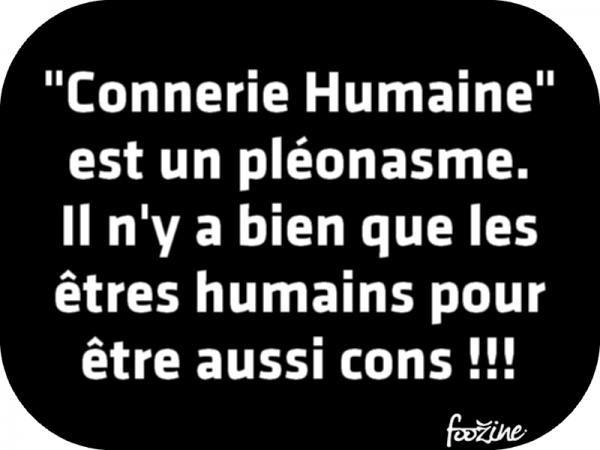 Connerie Humaine Est Un Pleonasme Citations Les Plus Droles