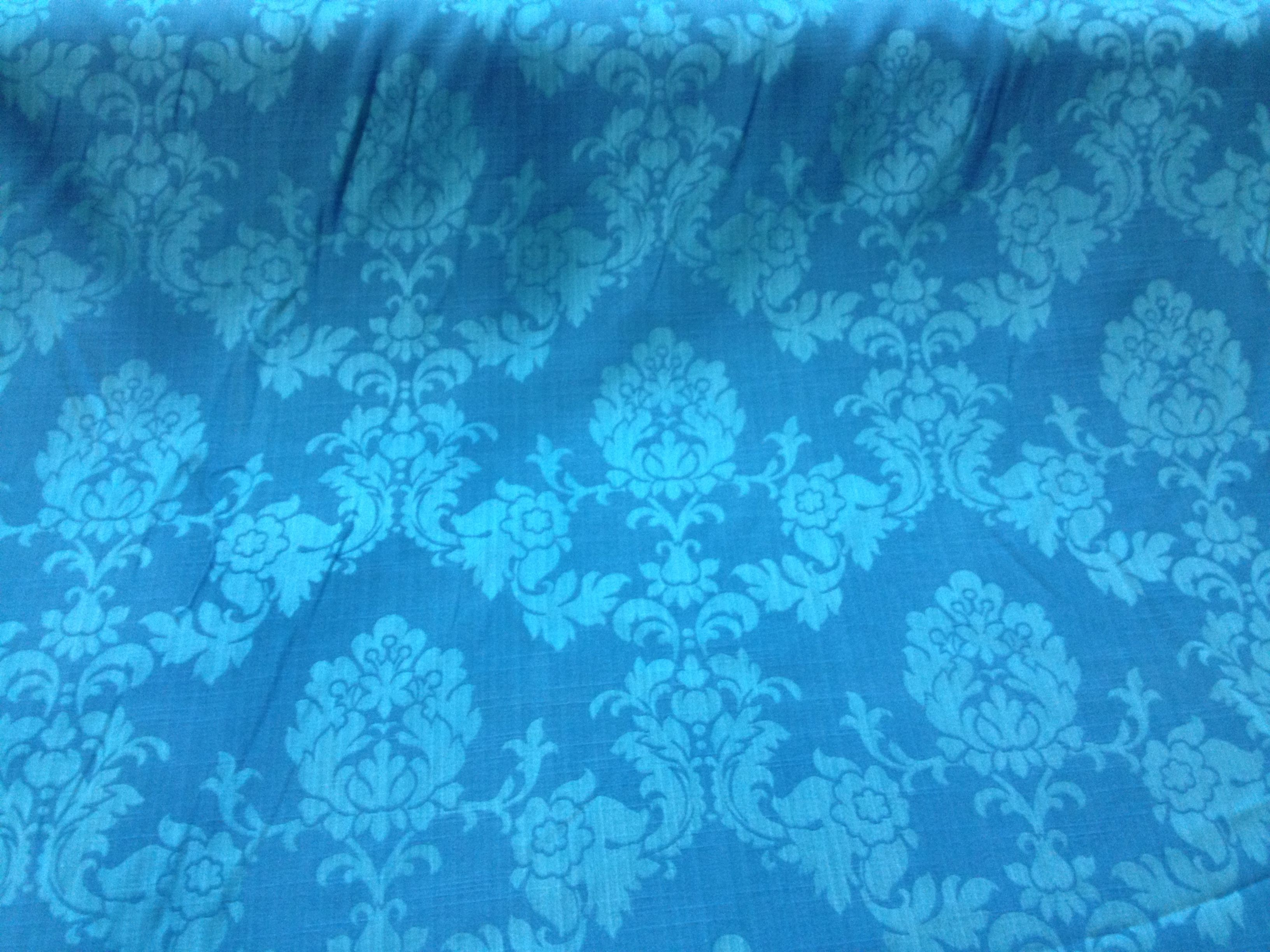 Madagascar upholstery curtain fabric Turquoise. | Upholstery ...