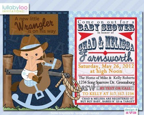 Cowboy baby shower invitations 173 little wrangler baby shower cowboy baby shower invitations 173 little wrangler baby shower lullabyloo cards on filmwisefo Images