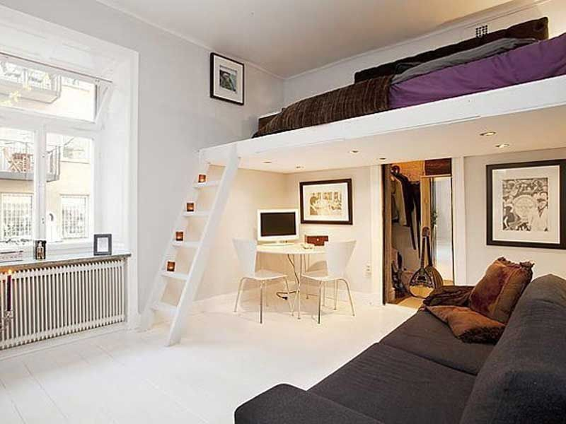 20 space saving loft designs for modern small rooms for Piccola casa con tre camere da letto