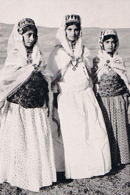 Kurdish Teen Girls In Traditional Cloths From Mahabad 1941
