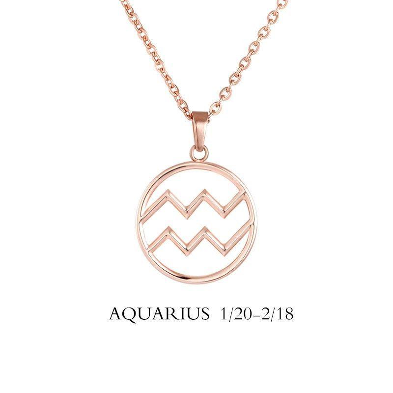 Aquarius Necklace Aquarius Zodiac Sign Constellation