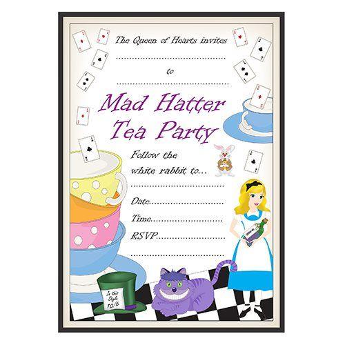 Mad Hatters Free Invitation Printable orderecigsjuiceinfo – Mad Hatters Tea Party Invitation Template