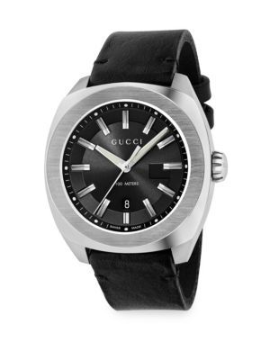 acdccc6e5c2 GUCCI Stainless Steel   Leather Strap Watch.  gucci  watch