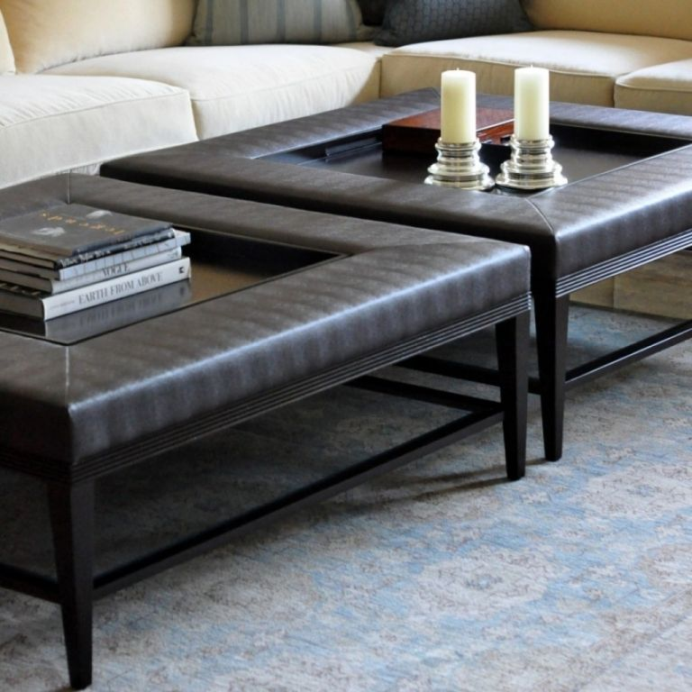 Living Room Amazing Upholstered Ottoman Coffee Table Trays Truly