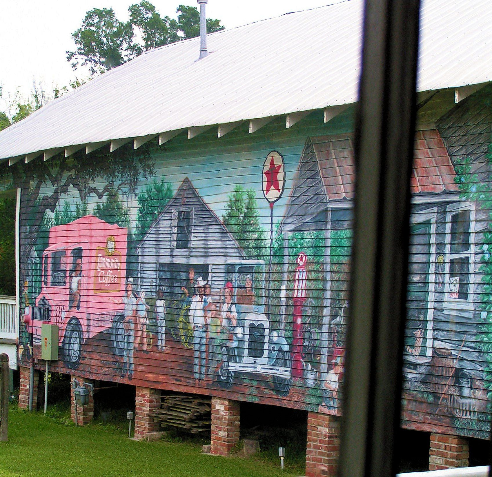 Louisiana mural at the cajun village near sorrento