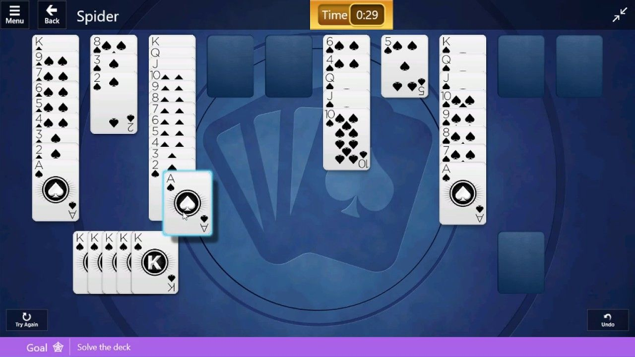 Solitaire world tour event easy street game 12