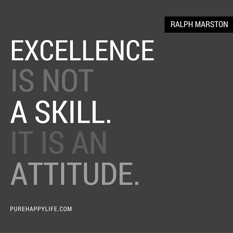 Attitude Quotes Excellence Is Not A Skill Good Attitude Quotes Quotes For Kids Success Quotes