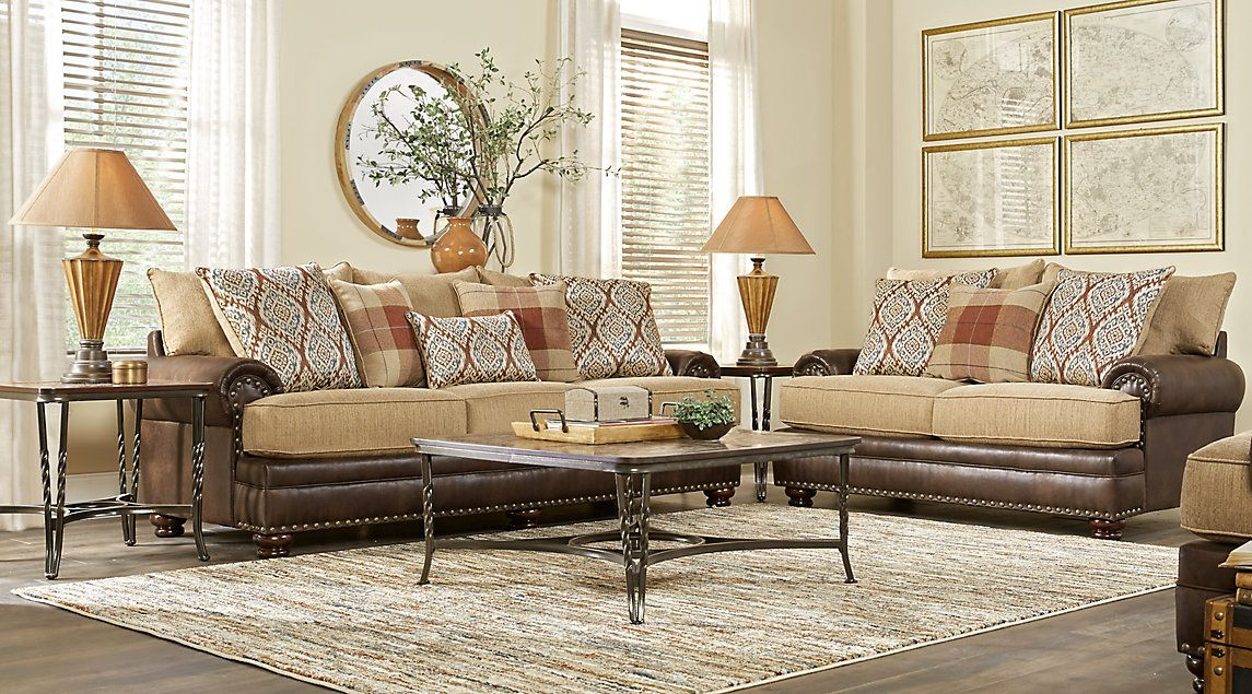 Best Bellister Brown 7 Pc Living Room Living Room Sets 400 x 300
