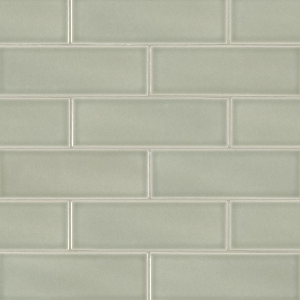 Premier Decor Tile By Msi Msi Morning Fog 4 Inx 12 Inglazed Ceramic Wall Tile 2 Sqft