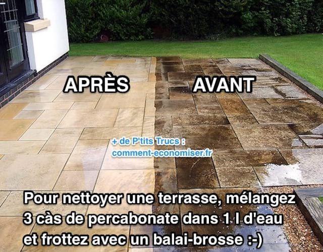 Terrasse Noircie ? L\u0027Astuce Miracle Pour La Nettoyer SANS EFFORT