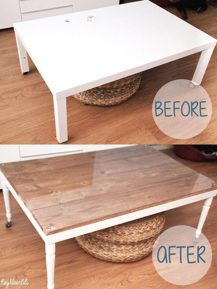 retaper un basique la table basse ikea bricolages diy pinterest table table basse et. Black Bedroom Furniture Sets. Home Design Ideas